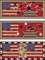 3 Patriotic Table Runners Pattern