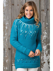 Lace Yoke Pullover Crochet Pattern
