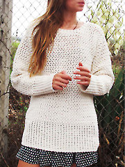 Basket Weave Sweater Crochet Pattern