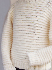 Bulky Garter Sweater Crochet Pattern