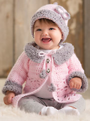 ANNIE'S SIGNATURE DESIGNS: Modern Baby Sweater Crochet Set