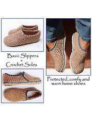 Crochet-Knit Casual Slippers