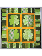 Shamrocks St. Patricks Day Quilt Pattern