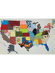 USA Patchwork Map Quilt Pattern