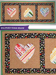 You're Mine Selvage Heart Quilt Pattern