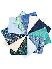 Dreamscapes Midnight/Lagoon Fat Quarters - 11/pkg.