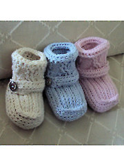 Cabled Cuff Booties Crochet Pattern