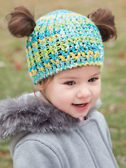 ANNIE'S SIGNATURE DESIGN: Messy Bun & Pigtail Crochet Hat
