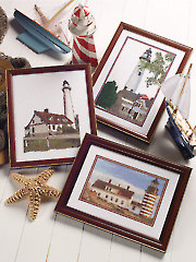 Lighthouses Counted Cross Stitch Pattern
