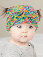 ANNIE'S SIGNATURE DESIGN: Messy Bun & Pigtail Knit Hat