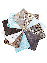 Naturescapes Pebble Beach Fat Quarters - 10/pkg.