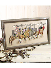 At The Races Counted Cross Stitch