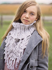 Double Wrapped Fringe Cowl