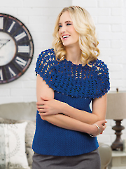 Let the Lace Go Top Crochet Pattern