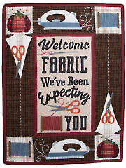 Welcome Fabric Wall Hanging Pattern