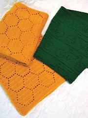 Honeycomb & Bicycle Race Blankets Crochet Pattern