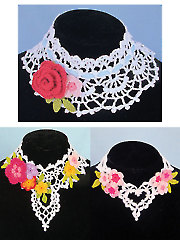 Irish Lace Chokers Crochet Pattern
