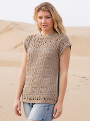 ANNIE'S SIGNATURE DESIGNS: Squared Away Tee Knit Pattern