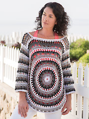 ANNIE'S SIGNATURE DESIGNS: Gazette Sweater Crochet Pattern