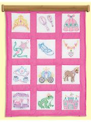 "Princess 9"" Prestamped Quilt Blocks"