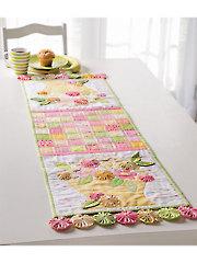 Flower Basket Table Runner Pattern