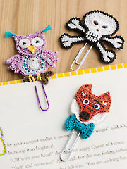 Fun Characters Book Clips Crochet Pattern