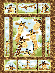 "Zoe the Giraffe Panel - 36"" x 44"""