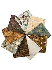 Shimmer Echoes Earth & Ebony Fat Quarters - 9/pkg.