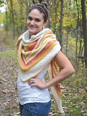 Indie Mash Up Shawl Knit Pattern