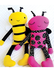 Bee and Ladybug Softies Sewing Pattern