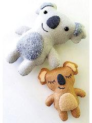 Koala Bear Softies Sewing Pattern