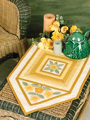 Golden Pansies Table Mat Pattern