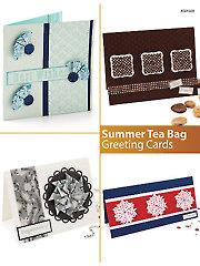 Summer Tea Bag Greeting Cards