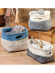 ANNIE'S SIGNATURE DESIGNS: Modern Cubist Baskets Knit Pattern