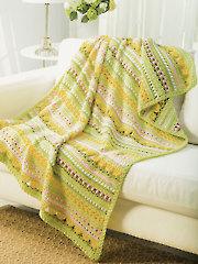 Spring Flowers Afghan Crochet Pattern