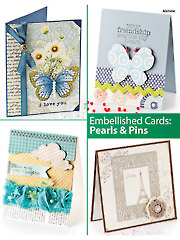 Embellished Cards: Pearls & Pins