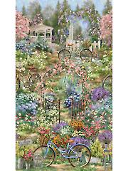 "Flower Market Panel 24"" x 44"""