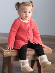 Sideways Baby Cardi Knit Pattern
