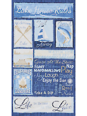 "Lake House Rules Panel 24"" x 44"""