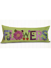 A Year in Words Pillow Pattern - Flowers