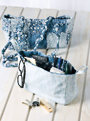 Ragtime Blues Bag Pattern with Removable Organizer