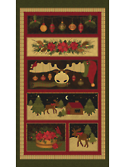 "A Moose for Christmas Panel 24"" x 42"""