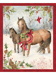 "Christmas Horse Panel 36"" x 44"""