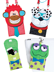Fun Guys Cell Phone & Eyeglass Cases Pattern