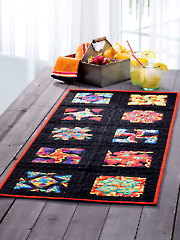 Stacked Four-Patch Fancy Table Runner Pattern