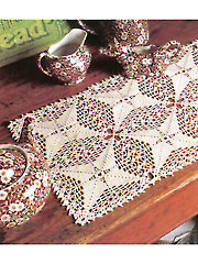 Evergreen Lace Table Runner