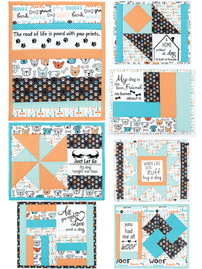 Inspirational Mug Mats Pattern & Dog Days Panel