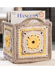 Five Squared Basket Crochet Pattern