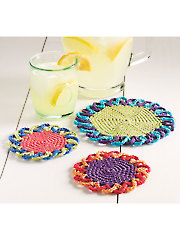 Loopy Flower Coasters