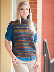 ANNIE'S SIGNATURE DESIGNS: Open Side Topper Knit Pattern